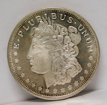 1 oz .999 Fine Morgan Dollar Silver Round
