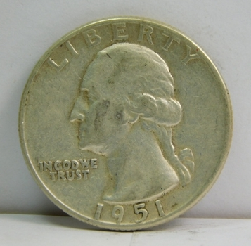 1951 Silver Washington Quarter - Nice Detail - Philadelphia Minted