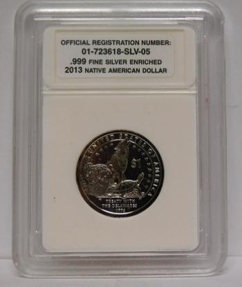 .999 Fine Silver Enriched 2013 Native American Dollar