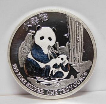 1 oz .999 Fine Chinese Panda - 2017 Niue $2