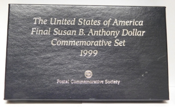 1999 Susan B. Anthony Uncirculated Denver and Philadelphia Coin Set in First Day Covers
