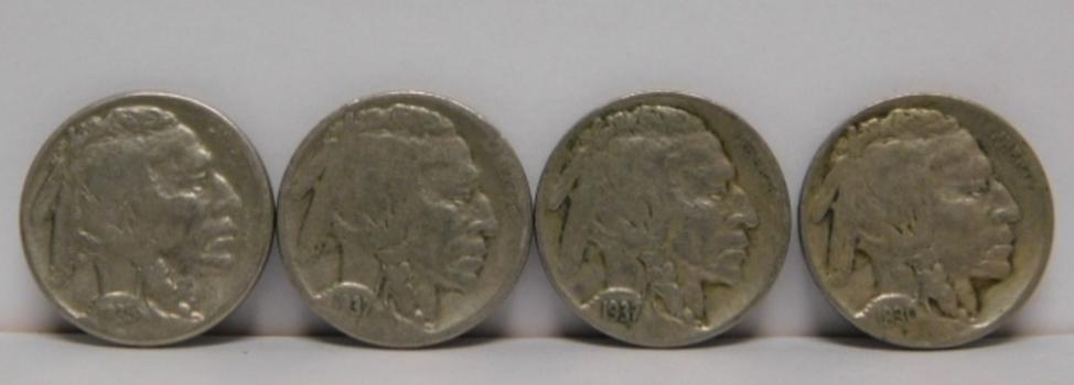 Lot of Ten (10) Buffalo Nickels