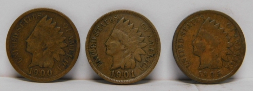 Lot of Six (6) Indian Head and Lincoln Wheat Cents - One (1) Lincoln and the Rest are Indian Head Cents