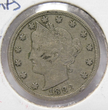 "1883 Liberty Head ""V"" Nickel - NO CENTS on Reverse"