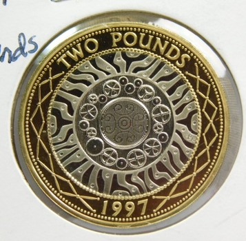 1997 Great Britain 2 Pounds - Proof Condition w/Deep Mirrors and Cameos - Low Mintage of Only 100,000!!!