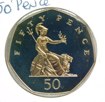 1997 Great Britain 50 Pence - Proof Condition w/Deep Mirrors and Cameos - Low Mintage of Only 100,000!!!