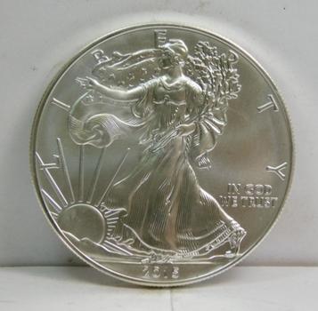 2015 American Silver Eagle - 1 oz .999 Fine Silver  - Pure White Coin