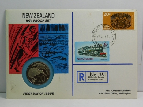 1974 New Zealand Proof Set - 20 Cents - #83 of 350 Issued