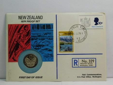 1974 New Zealand Proof Set - 10 Cents - #83 of 350 Issued