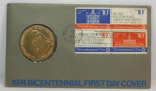 1974 Bicentennial Bronze Commemorative Medal - John Adams and the First Continental Congress