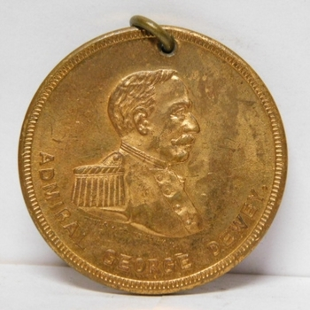 Admiral George Dewey - Spanish American War - Syracuse Chilled Plow Co - New York - Coin/Medal