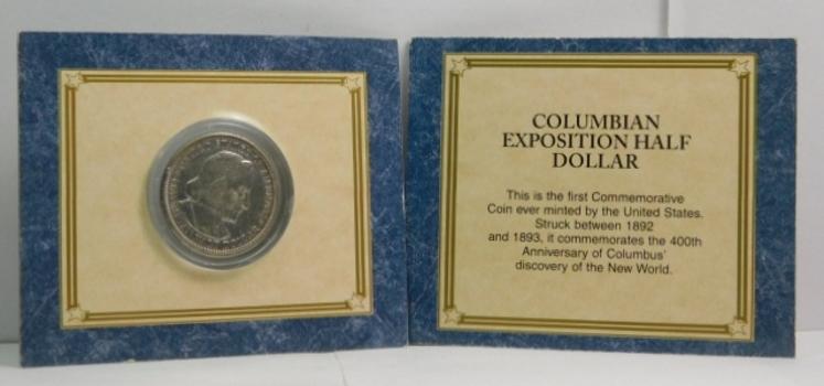 1893 Silver Columbian Expo Commemorative Half Dollar - Excellent Detail