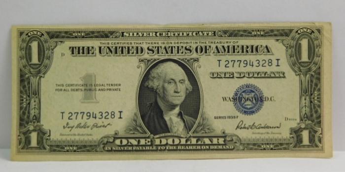 Series 1935F $1 Silver Certificate - Crisp Paper
