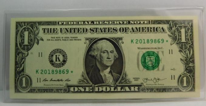 Series 2013 $1 Federal Reserve STAR Note - Dallas, Texas - Crisp Uncirculated