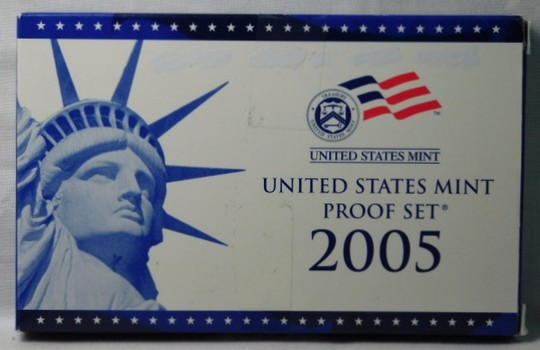 2005 United States Mint Proof Set - Complete with Original box, COA and State Quarters