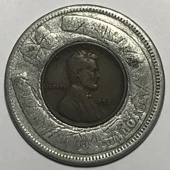 1926-D Continental National Bank Encased Cent