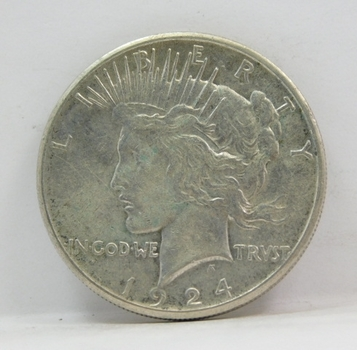 1924-S US Silver Peace Dollar-Semi Key Date-Well Struck & Very Difficult To Locate!