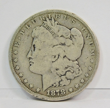 1878-S Morgan Silver Dollar - First Year of Issue - San Francisco Minted