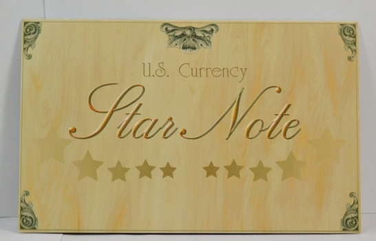 U.S. Currency - $5 Federal Reserve Star Note - Crisp and Uncirculated in Collector's Folder - #BE03321574*