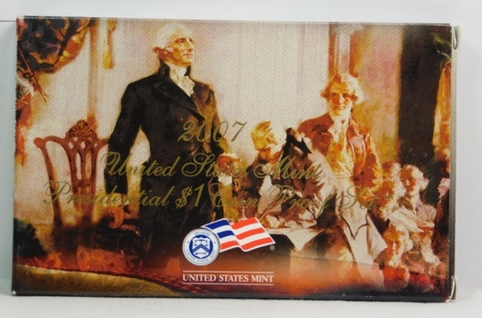 2007 United States Mint Presidential $1 Coin Proof Set - Washington, Adams, Jefferson & Madison - In Original Box with COA