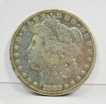 1880-O Micro O Variety New Orleans Minted Morgan Silver Dollar