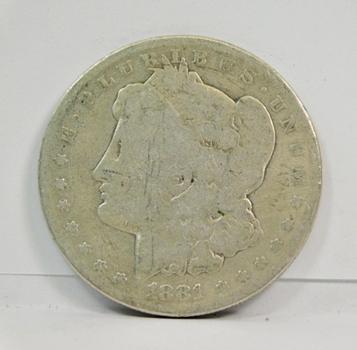 1881-O Morgan Silver Dollar - New Orleans Minted