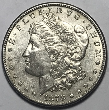 1878-S Morgan Silver Dollar - First Year of Issue San Francisco Minted