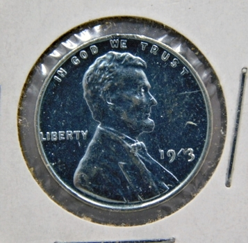 1943 Brilliant Uncirculated Lincoln Wheat Steel Cent - Excellent Detail and Luster