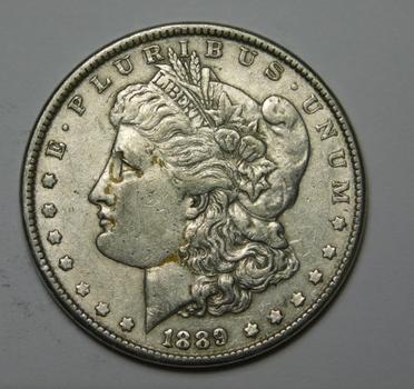 1889 Morgan Silver Dollar - Good Detail - Philadelphia Minted