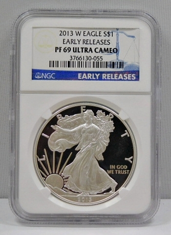 2013-W Proof American Silver Eagle - Early Releases Coin - West Point Minted - Graded PF69 ULTRA CAMEO by NGC