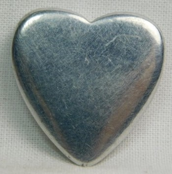"""Silver-Colored Metal Heart - Approx. 1"""" x 1"""""""