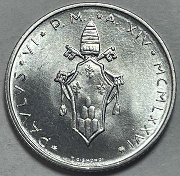 1976 Pope Paul VI Vatican City 2 Lire - High Grade