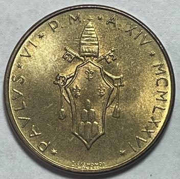 1976 Pope Paul VI Vatican City 20 Lire - High Grade