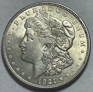 1921 Morgan Silver Dollar - Last Year of Issue - High Grade and Lustrous