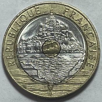 1996 France Bimetallic 20 Francs