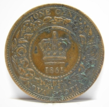 1861 Canada Nova Scotia Province Large Cent - High Grade!