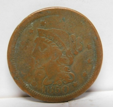 1850 Braided Hair Variety Large Cent