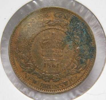 1861 Canada New Brunswick Province Large Cent