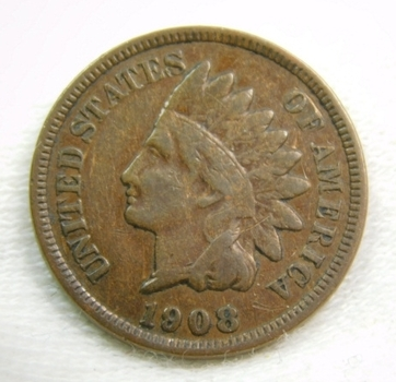 1908 Indian Head Cent - Nice Detail