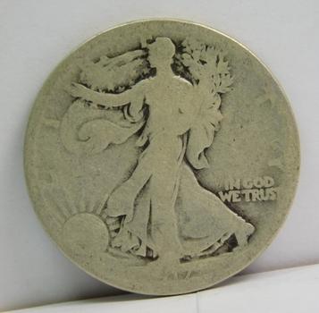 1917-S Reverse Walking Liberty Silver Half Dollar - San Francisco Minted