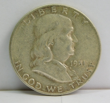 1951-S Silver Franklin Half Dollar - San Francisco Minted