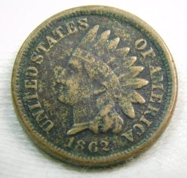 1862 Indian Head Cent - Copper Nickel
