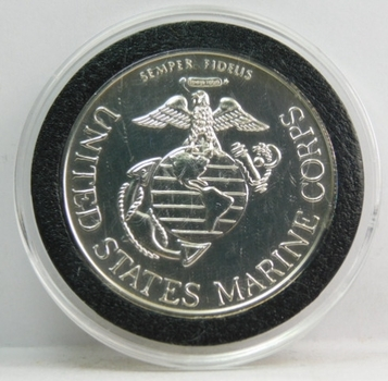 1 oz .999 Fine Silver United States Marine Corps - Semper Fidelis - Great Seal of the United States Commemorative