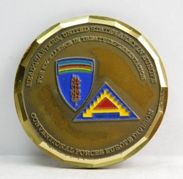 "Challenge Coin - Headquarters United States Army in Europe - 1.75"" Diameter"