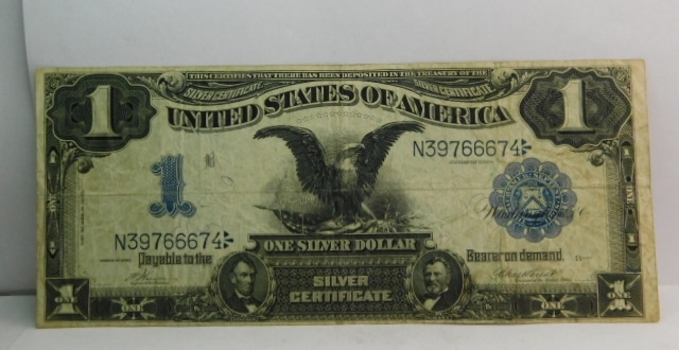 1899 $1 Black Eagle Large Size Silver Certificate - Nice Higher Grade Note