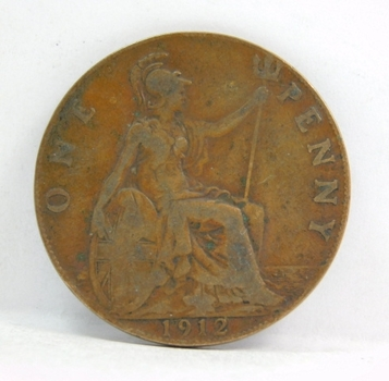 1912 Great Britain Large Cent