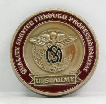 """Challenge Coin - U.S. Army - Medical Service Corps - 1.75"""" Diameter"""