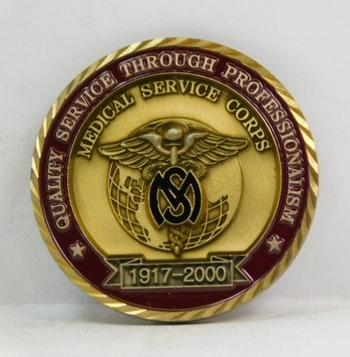 """Challenge Coin - 1917-2000 Medical Services Corp - 1.75"""" Diameter"""