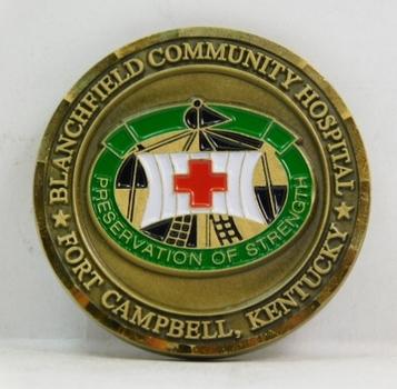 "Challenge Coin - Fort Campbell, Kentucky - Blanchfield Community Hospital - 1.75"" Diameter"