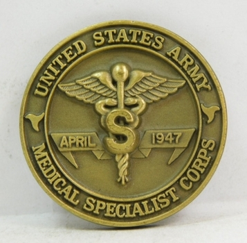 "Challenge Coin - United States Army - Medical Specialist Corps - April 1947 - 1.5"" Diameter"